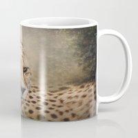 cheetah Mugs featuring Cheetah  by Pauline Fowler ( Polly470 )
