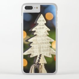 a small christmas tree from wood Clear iPhone Case