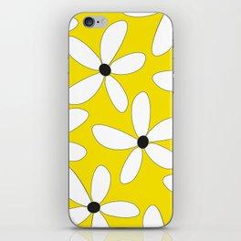 Happy flowers Yellow iPhone Skin