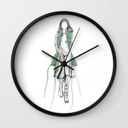 Y-3 - Sewn On Fashion Illustration Wall Clock