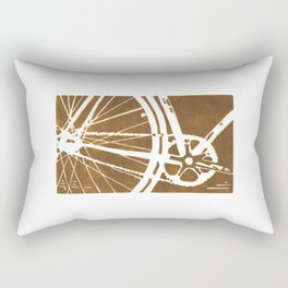 Brown Bike Rectangular Pillow