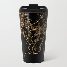 Black and gold Busan map Travel Mug