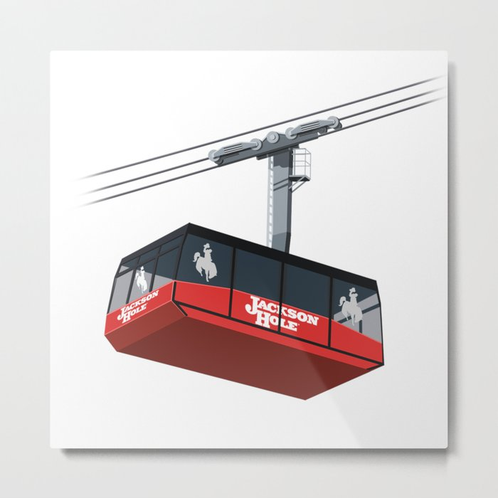Jackson Hole Cable Car Metal Print