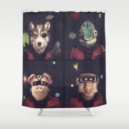 Star Team - Pirates of Lylat Shower Curtain