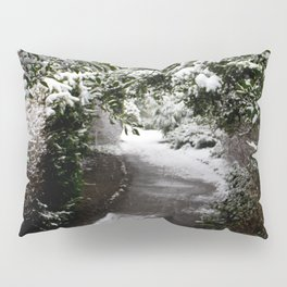Snowy Path in The Trees Pillow Sham