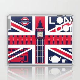 Vintage Union Jack UK Flag with London Decoration Laptop & iPad Skin