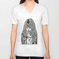 ramones V-neck T-shirts featuring Joey  by Travis Poston