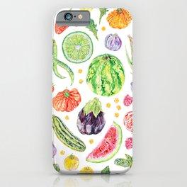 Summer Harvest Pattern White iPhone Case