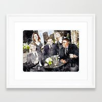 30 rock Framed Art Prints featuring 30 ROCK by rcknroby