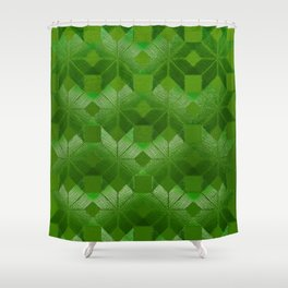 Evergreen, Snowflakes #32 Shower Curtain