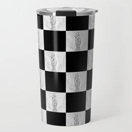 Checkerboard Pussy Travel Mug