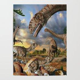 Jurassic dinosaurs being born Poster