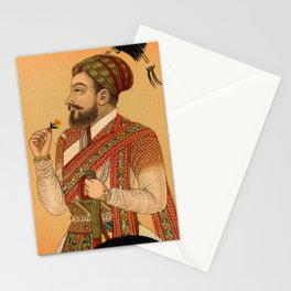 Indian Mughal with Flower Stationery Cards