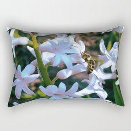 Bee on the hyacinth flower Rectangular Pillow