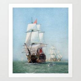 First Journey Of The HMS Victory Art Print