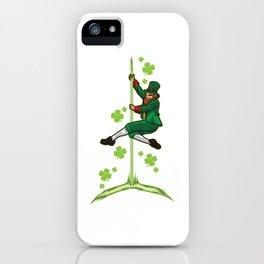 Pole Dance Leprechaun - Pole Fitness Ireland Lucky iPhone Case