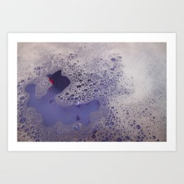 Violet Bubbles Art Print