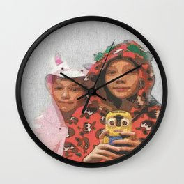 Sleepover Selfie Wall Clock