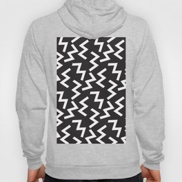 Abstract w pattern black white Hoody