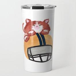 Cat Football Helmet funny gift Travel Mug