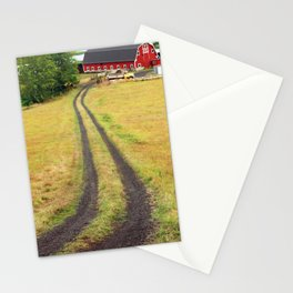 Red Barn Dirt Road Stationery Cards