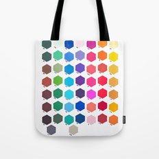 Hexagon Color Chart Tote Bag