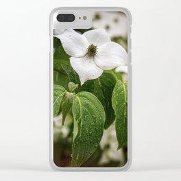 Single Dogwood Flower Clear iPhone Case