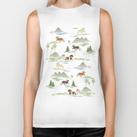 iceland Biker Tanks featuring Green Iceland by Emma Jansson