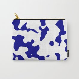 Large Spots - White and Dark Blue Carry-All Pouch