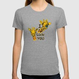 I like you girafe blue tong T-shirt