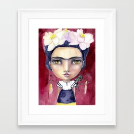 Little Frida by Jane Davenport Framed Art Print