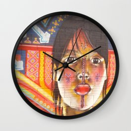 Continental Summit of Indigenous Peoples Mural  Wall Clock