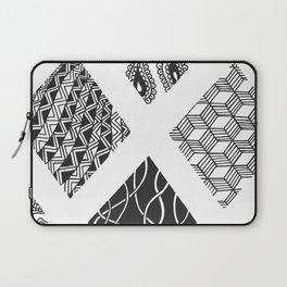 Diamond Zentangles Laptop Sleeve