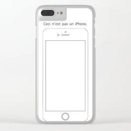 Ceci n'est pas un iPhone Clear iPhone Case