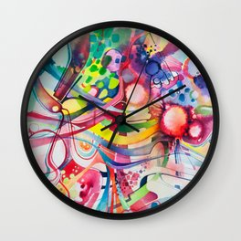 Nice Clowns You Got There - Watercolor Painting Wall Clock