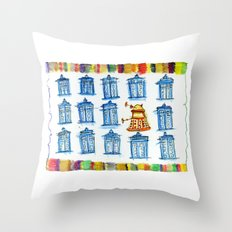 Doctor Whoodle Throw Pillow
