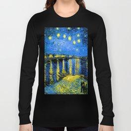 Van Gogh Starry Night Over the Rhone Long Sleeve T-shirt