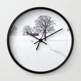 Winter Scene Wall Clock