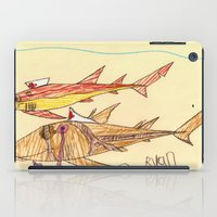 nurse iPad Cases featuring Nurse Sharks by Ryan van Gogh