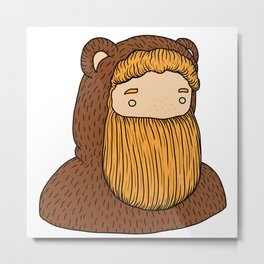 bear beard Metal Print