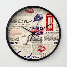 British newspaper style Wall Clock