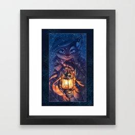 Lackadaisy Lamplight Framed Art Print