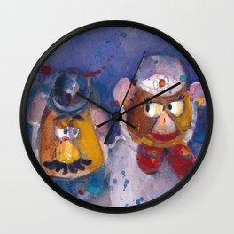 MR AND MRS POTATOE HEAD Wall Clock