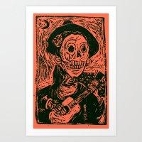 calavera Art Prints featuring calavera  by MC2205