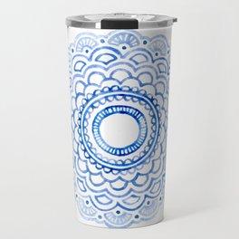 Baby Blue Mandala Travel Mug