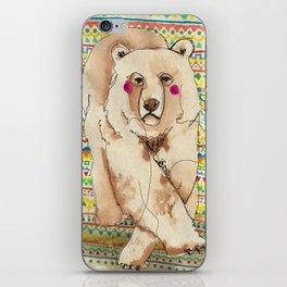 Moody Bear iPhone Skin