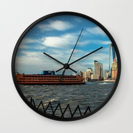 Freedom Tower 2013 w/ Boat Wall Clock