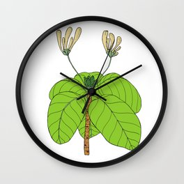 Fish-Plate Shrub - Guettarda speciosa Wall Clock