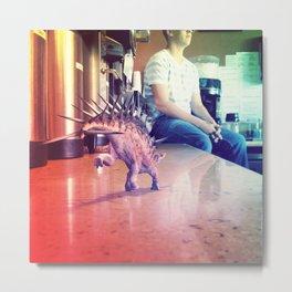 Running Dino Metal Print