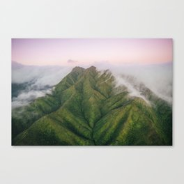 Clouds over the Koʻolau Mountains on Oahu Canvas Print